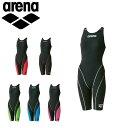アリーナ 競泳 水着 ジュニア AQUAFORCE FUSION-II ジュニア ハーフスパッツ オープンバック FINA承認モデル 女の子 ARN7010WJ arena