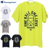ネコポス チャンピオン 半袖 シャツ メンズ プラクティスTシャツ C3PB318 Champion 素早くドライ 抗菌・防臭機能 バスケットボール スポーツウエアの画像