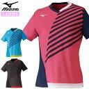 ネコポス ミズノ スポーツウエア レディース ゲームシャツ MIZUNO 82JA0202 卓球 半袖 シャツ 吸汗速乾 スタンダードなシルエット