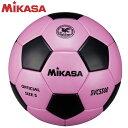 ミカサ MIKASA サッカー SVC5500-PBK サッカーボール 検定球5号 貼り ピンク黒 全国高等学校総合体育大会公式試合球 人工皮革 フットボール