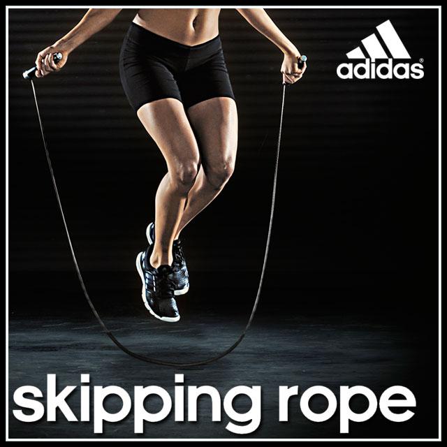 【ポイント20倍!】adidas (アディダス) フィットネス トレーニング 用品 ADRP11011 スキッピングロープ 縄飛び 筋トレ ジム