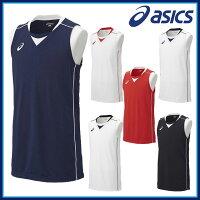 asics(アシックス) バスケットボール ウエア XB1355 ゲームシャツ ノースリーブ 吸汗速乾 UVケア 【ジュニアサイズ対応】の画像