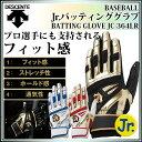 デサント 野球 バッティング手袋 ジュニア 両手 JC364LR DESCENTE