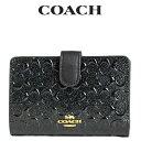 ショッピング二つ折り コーチ COACH レディース 財布 二つ折り財布 F25937 IMBLK(ブラック)