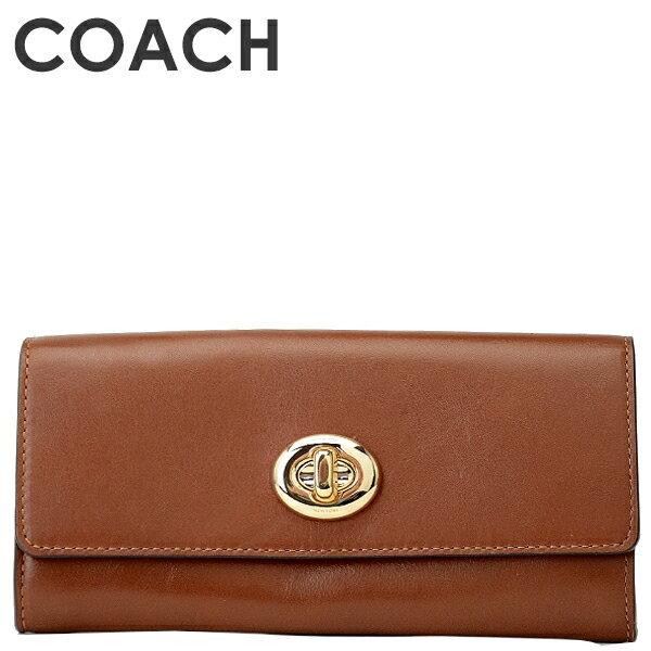 7727bf6bdf54 コーチ COACH 財布フロント部分のターンロックがエレガントで素敵な長財布 ☆各種ポケットが豊富で整理整頓もバッチリ!中身がパッと見渡せて取り出しやすいのが特徴!