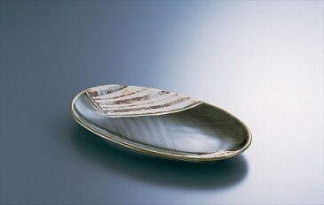 丸モ高木陶器 M15−113 織部楕円皿 6-2165-0701 RMPG201