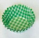 廚房用品 - 遠藤商事 オーブンケース チェック柄(250枚入) 5号深口 緑 6-1394-0606 XOC0212