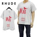 ルード RHUDE Tシャツ 半袖 WIN 02ATT03501-WHITE