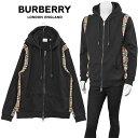 バーバリー BURBERRY ヴィンテージチェック ジップスウェット パーカー 8034510-A1189_BLACK