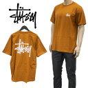 ショッピングstussy ステューシー STUSSY Tシャツ 半袖 1904567-CARAMEL