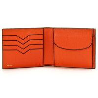 ヴァレクストラ/VALEXTRA財布メンズグレインレザー2つ折り財布オレンジ2014年秋冬新作V8L23-028-00ARRD