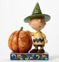 ジムショア チャーリーブラウンとカボチャ ハロウィンだよ スヌーピー 4045889 It's Halloween, Charlie Brown-Charlie Brown with Pumpkin Figurine JimShore □