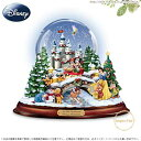 ディズニー ミッキーとミニー達の雪のクリスマス スノードーム Disney Musical Snowglobe With Lights And Swirling Snow □