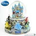 ディズニー ミッキー ミニー 魔法の瞬間 ミュージカル グリッター グローブ Disney Magical Moments Rotating Musical Glitter Globe スノードーム オルゴール プリンセス □