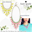Kate Spade ケイトスペード◆マーキー ビブ ネックレス◆Marquee bib necklace◆正規輸入品□
