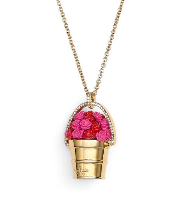 Kate Spade �P�C�g�X�y�[�h ���W�[ �A�E�g���b�N �l�b�N���X �o�� rosy outlook pendant necklace ...