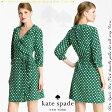 *ケイトスペード Kate Spade◆daniella polka dot silk wrap dress シルクワンピース◆大きなサイズも豊富!□