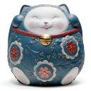 リヤドロ 招き猫 (Blue) 01008529 LLADRO お正月飾りやインテリアに□