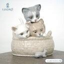 リヤドロ 見いつけた CURIOUS KITTENS 猫 ネコ ネズミ 01008693 □