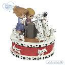 プレシャスモーメンツ 101匹わんちゃん ダルメシアン 回転 オルゴール 172058 Disney 101 Dalmatians Rotating Music Box, Resin Precious Moments □
