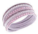 スワロフスキー スレイク ピンク デラックス ブレスレット 5120639 Swarovski Slake Pink Deluxe Bracelet □