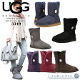 *UGG×スワロフスキー アグ 正規品 ベイリーボタン ブリング  ショート ムートンブーツ 3349 Bailey Button Bling □