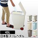ゴミ箱 kcud(クード) スリムペダル 30 45L対応 ふた付き ごみ箱 分別 スリム フットペダル キャスター 収納 ダストボックス 日本製