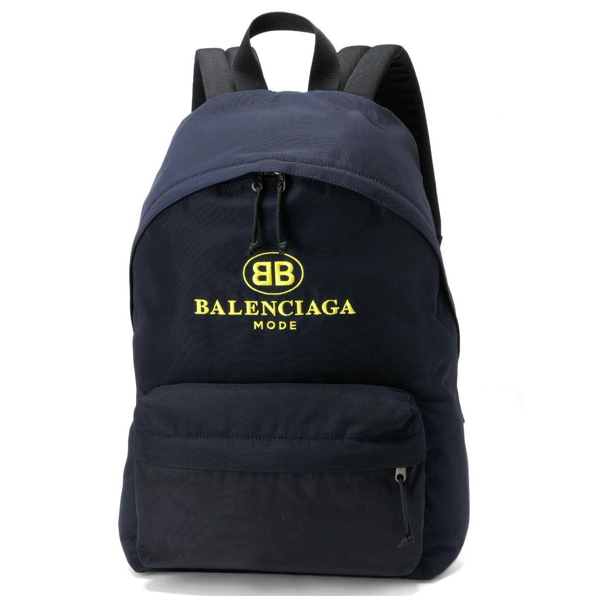 バレンシアガ BALENCIAGA バッグ メンズ 503221 9D0B5 4160 バックパック EXPLORER エクスプローラー BLEU NAVY/JAUNE ダークブルー