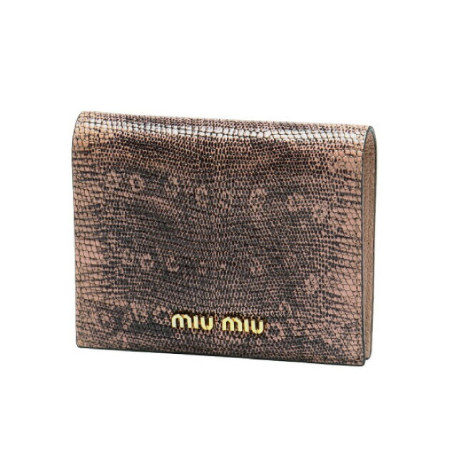 ミュウ ミュウ MIU MIU 財布 レディース 5MV204 2ENW F0615 二つ折り財布 ST.LUCERTOLA ORCHIDEA ピンク