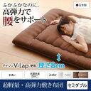テイジン V-Lap使用 日本製 体圧分散で腰にやさしい 朝の目覚めを考えた超軽量 高弾力敷布団 セミダブル帝人 敷布団 腰痛改善