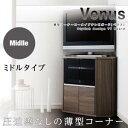 薄型コーナーロータイプテレビボード【Venus】ベヌス ミド...