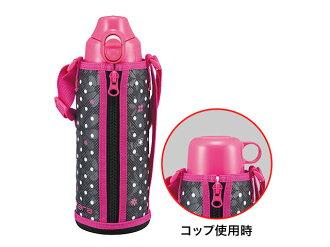 <虎牌/TIGER/保温杯>溫暖的粉紅色虎 / 老虎熱水瓶 / 老虎地磚 / 瓶 / 杯直接 2 方式類型老虎不銹鋼瓶 MBO D080P 粉紅色的
