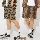 ハーフパンツ メンズ レディース 総柄 レーヨン ショートパンツ 涼しい 柄パンツ カモフラ 迷彩柄 レオパード 豹柄 ヒョウ柄 星 花柄 ボタニカル柄 フラワー ウエストゴム ショーツ 短パン リゾート サーフ系 ストリート系 ストリートファッション 韓国ファッション improves