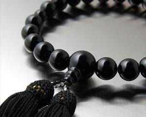 数珠オニキス男性用12ミリ玉