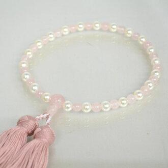 念珠婦女珍珠紅水晶垛珍珠非正式念珠真正珍珠珍珠貝