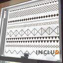 ウインドウフィルム 60cm×100cm〜 幾何学 三角形 ランダム 図形 幾何学模様 多様体 ピタゴラス モダン インパクト デザイン 窓フィルム 目隠しシート シンプル プライバシー めかくしシート モザイク Resolution Geometric