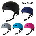 GO★SKATE ゴースケート HELMET ヘルメット スケート スケボー キッズ 子供 ジュニア 無地 全5カラー ワンサイズ