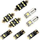 アウディ 8N TTクーペ (A4) H11.10-H18.7 LED ルームランプ 金メッキ キャンセラー内蔵 SMD 34発 8点セット