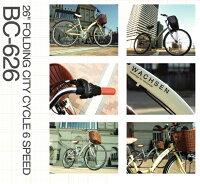 【送料無料】自転車シティサイクル26インチ折りたたみ自転車BC-626カゴカギライト標準装備シマノ6段変速【シティサイクルママチャリ折畳み自転車折り畳みじてんしゃzitennsya】通勤通学車に積める自転車自転車通販