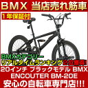 BMX ストリート 20インチ ペグ スタンド ハンドル自転車フリースタイルタイプ 自転車 (じてんしゃ) 当店人気 カッコイイ BM-20E エンカウンター ENCOUNTER BM-20E