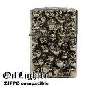 ショッピングzippo スカル SKULL ドクロ シルバー メタルジャケット メタル オイルライター ライター ZIPPO zippo ジッポー ジッポ コンパティブルケース 互換商品 ケース