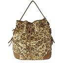 ショッピング毛皮 レオパードバッグ ヒョウ柄 豹柄 スタッズ ショルダーバッグ ハラコ素材 毛皮タイプ ラックシルバー ゴールド シンセティックレザー ショルダーバッグ 2way bag