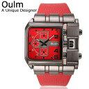 送料無料 Oulm 日本製ムーブメント 腕時計 ビッグフェ