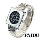 ショッピングJapan PAIDU 日本製ムーブメント 腕時計 ステンレススティール クオーツ シルバー メイドインジャパン ムーブメント