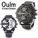 送料無料 Oulm 腕時計 メンズ 防水 日本製ムーブメン