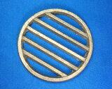 七輪コンロのサナ(鋳物の火皿・目皿)丸巣6.0寸(直径18.0cm)木炭コンロ(七輪)の交換用目皿