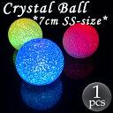 LEDライト クリスタルボール SSサイズ(7cm) 電池付...