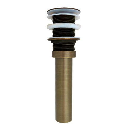 プッシュアップ式排水栓32mm(洗面ボウル用・オーバーフロー無) 古銅 INK-0602014H