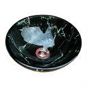小さいガラス洗面ボウル(ガラス洗面ボール・ガラスシンク・洗面台・手洗い鉢・小型・省スペース) W310×D310×H115 INK-0406004H