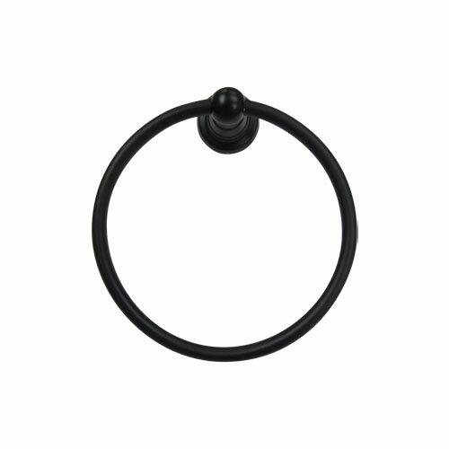タオル掛け(黒・タオルリング・アイアン調・洗面所・トイレ) INK-0801012G